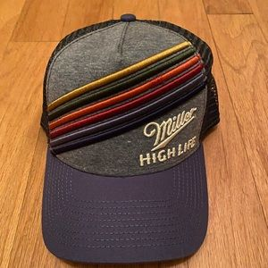 Accessories - Miller High Life Trucker Hat LGBTQ Rainbow New